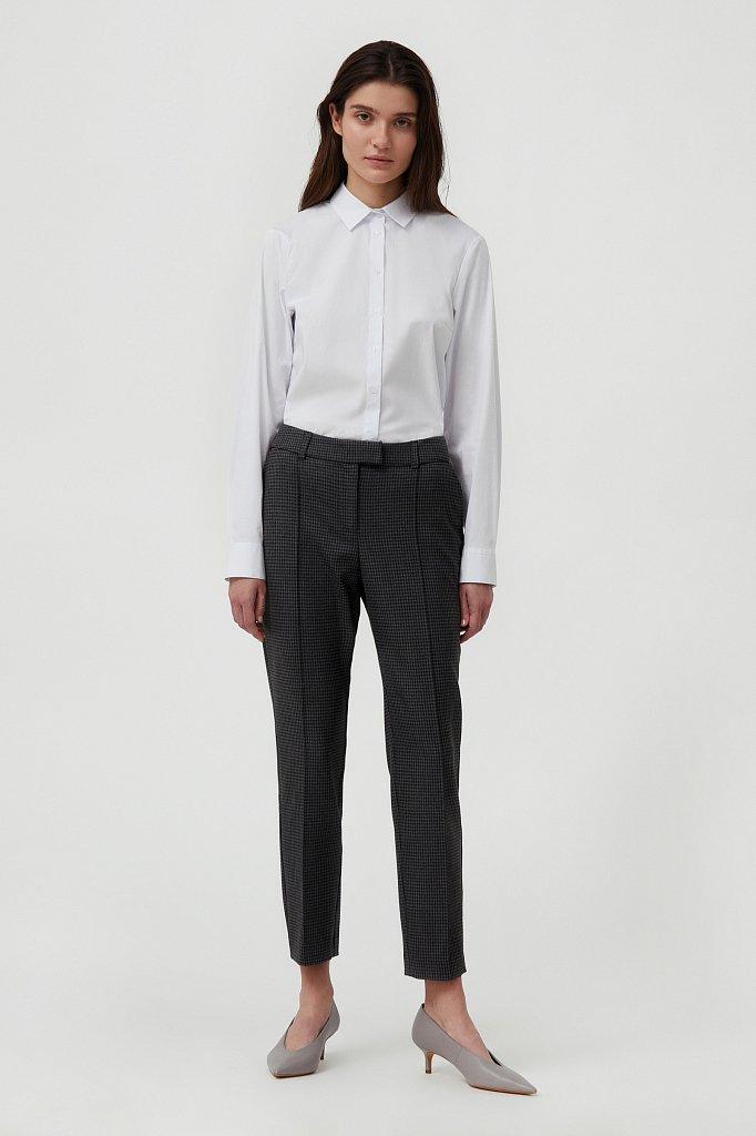 Женские брюки на средней посадке с мелким принтом, Модель FAB11020, Фото №1