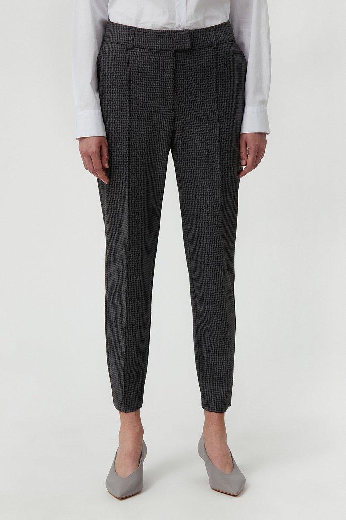 Женские брюки на средней посадке с мелким принтом, Модель FAB11020, Фото №2
