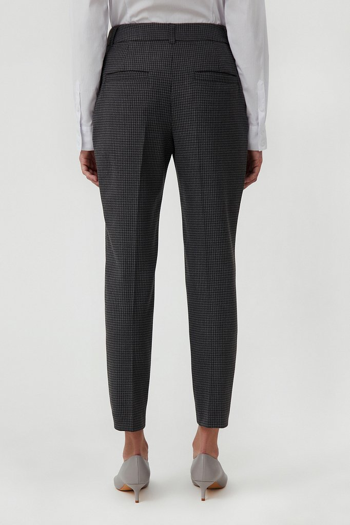 Женские брюки на средней посадке с мелким принтом, Модель FAB11020, Фото №4