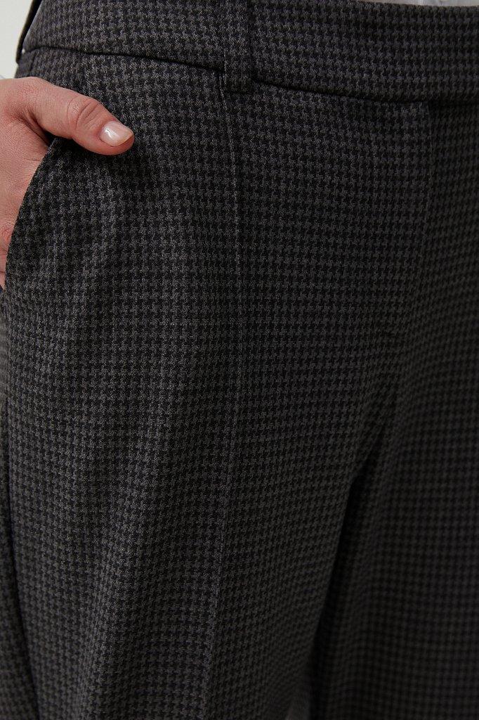Женские брюки на средней посадке с мелким принтом, Модель FAB11020, Фото №5