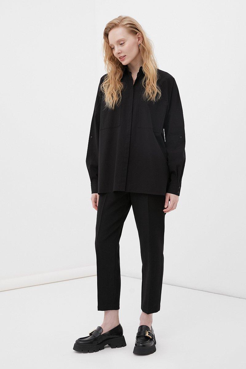 Хлопковая женская рубашка с накладными карманами, Модель FAB11026, Фото №2