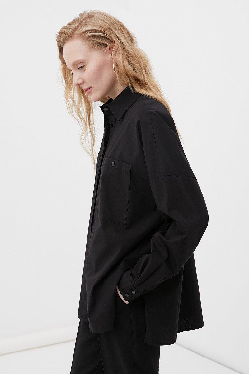 Хлопковая женская рубашка с накладными карманами, Модель FAB11026, Фото №3