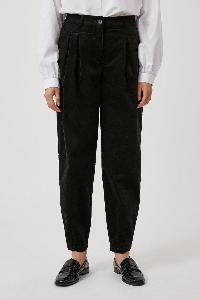 Вельветовые брюки женские кроя багги, Модель FAB11049, Фото №2