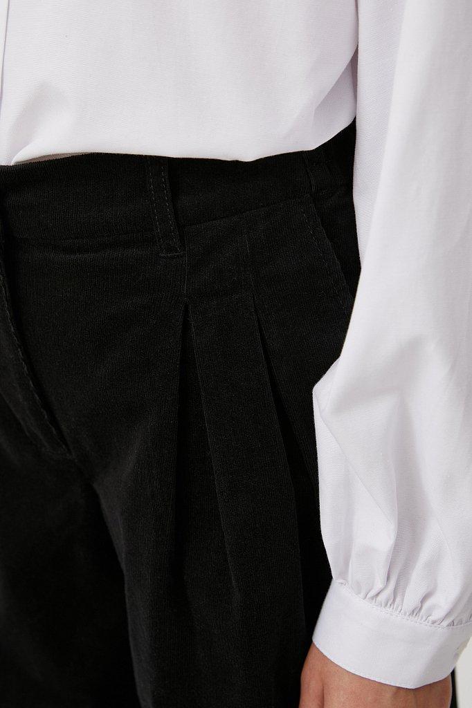 Вельветовые брюки женские кроя багги, Модель FAB11049, Фото №5