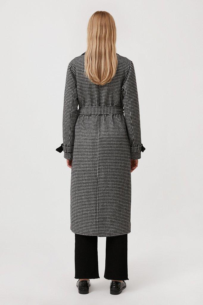 Пальто женское прямого кроя с шерстью, Модель FAB11085, Фото №4