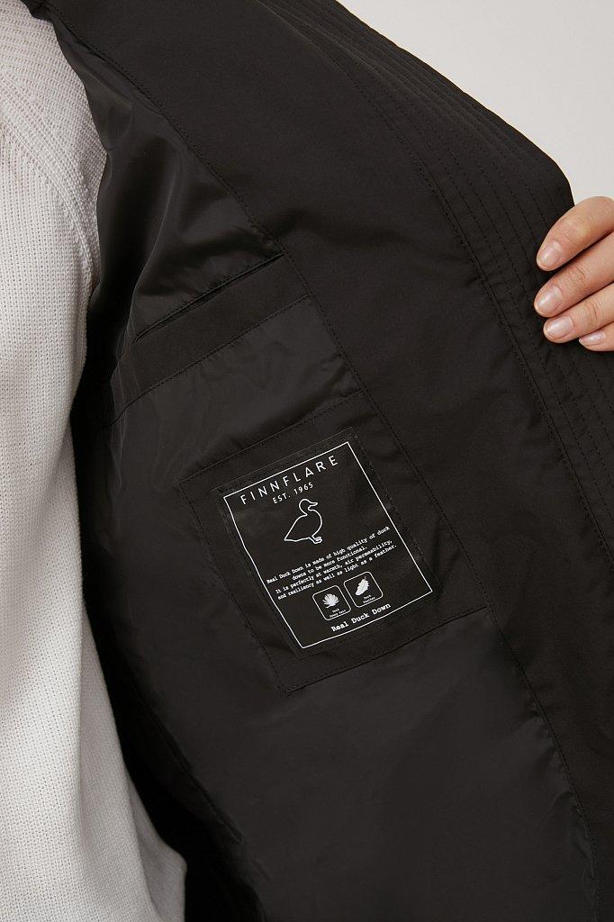 Пуховое женское пальто свободного кроя, Модель FAB11086, Фото №4