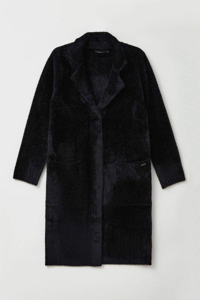 Пальто женское прямого кроя из пряжи с ворсом, Модель FAB11103, Фото №7