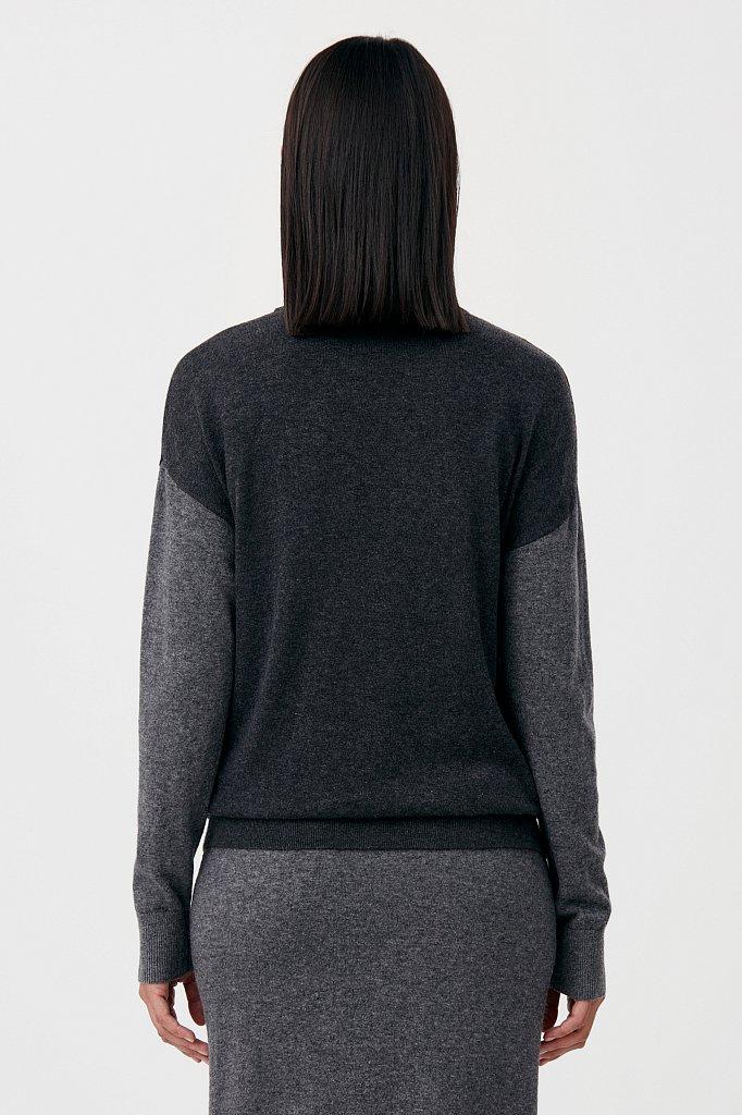 Джемпер женский прямого кроя с ангорой и шерстью, Модель FAB11133, Фото №4