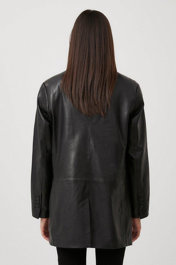 Жакет женский из 100% натуральной кожи оверсайз, Модель FAB11800, Фото №4