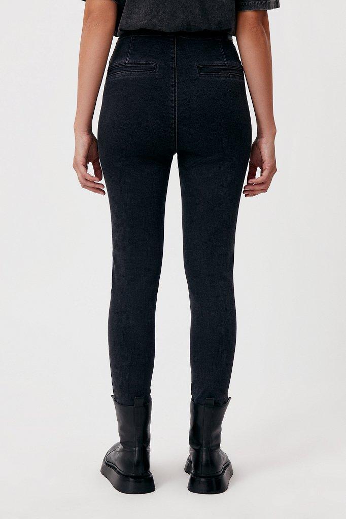 Женские джинсы slim fit с карманами на пуговицах, Модель FAB15010, Фото №4