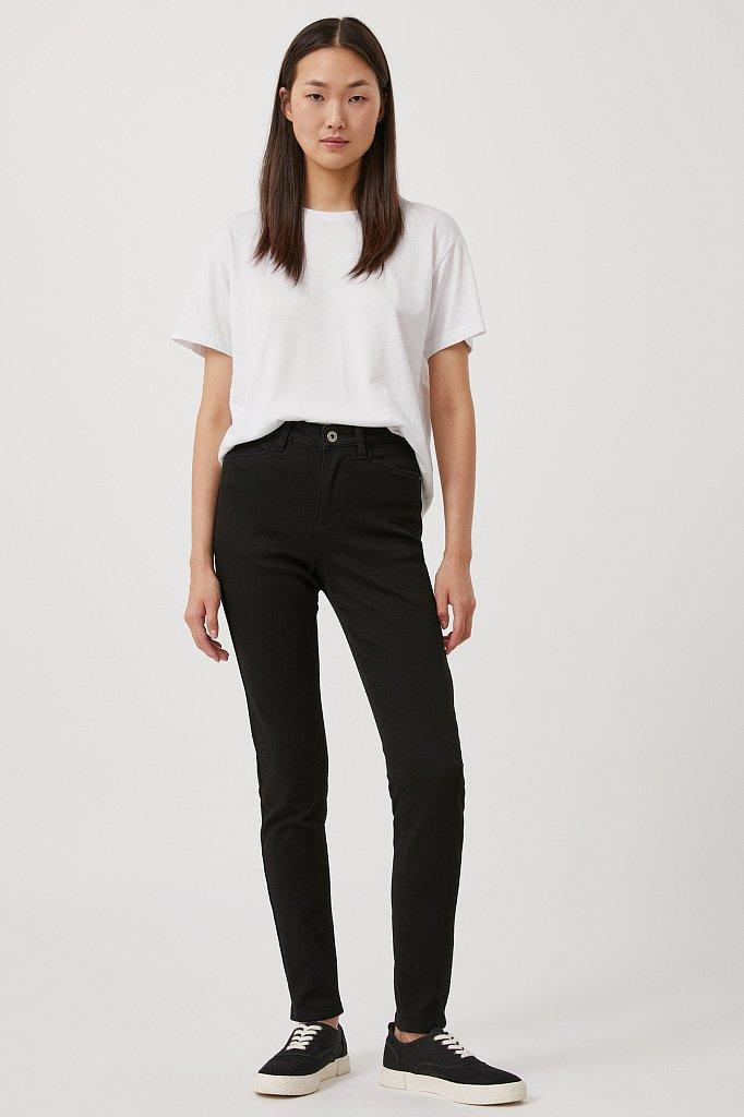 Женские слегка зауженные джинсы slim fit, Модель FAB15022, Фото №1