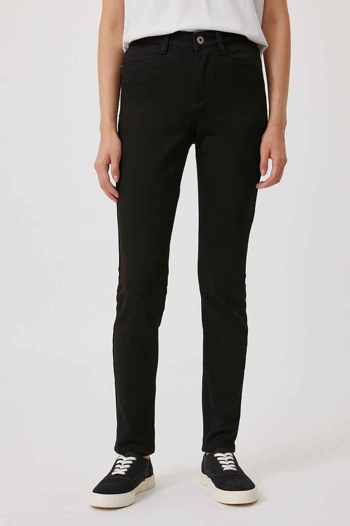 Женские слегка зауженные джинсы slim fit, Модель FAB15022, Фото №2