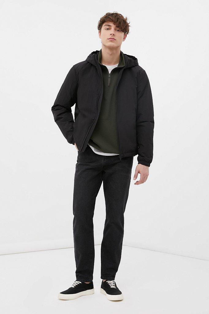 Базовая межсезонная куртка свободного кроя, Модель FAB210105, Фото №2