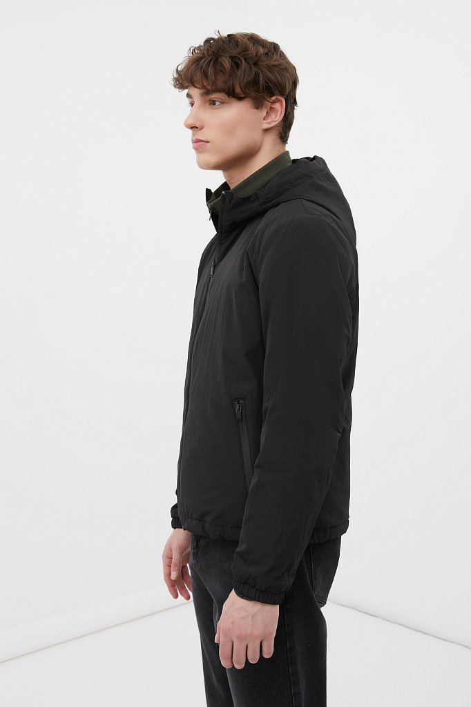 Базовая межсезонная куртка свободного кроя, Модель FAB210105, Фото №4