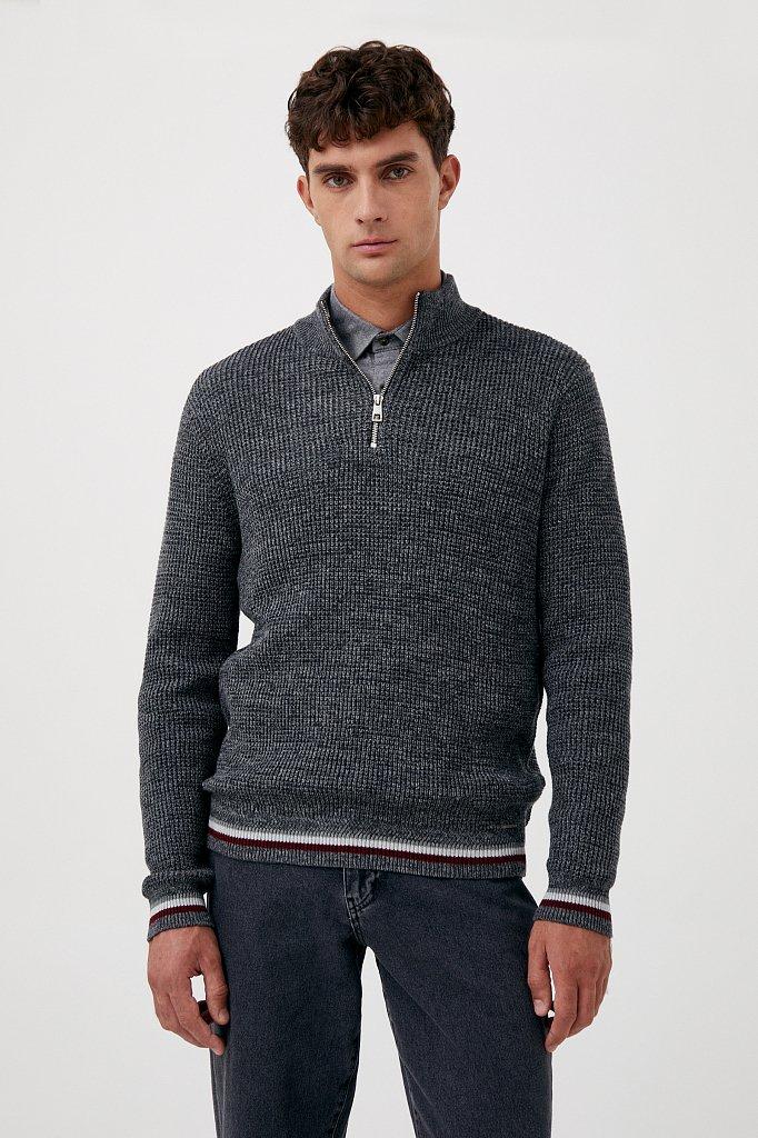 Трикотажный мужской свитер прямого силуэта, Модель FAB21124, Фото №1