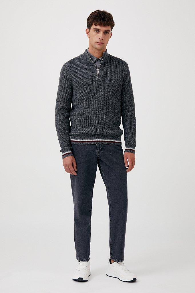 Трикотажный мужской свитер прямого силуэта, Модель FAB21124, Фото №2