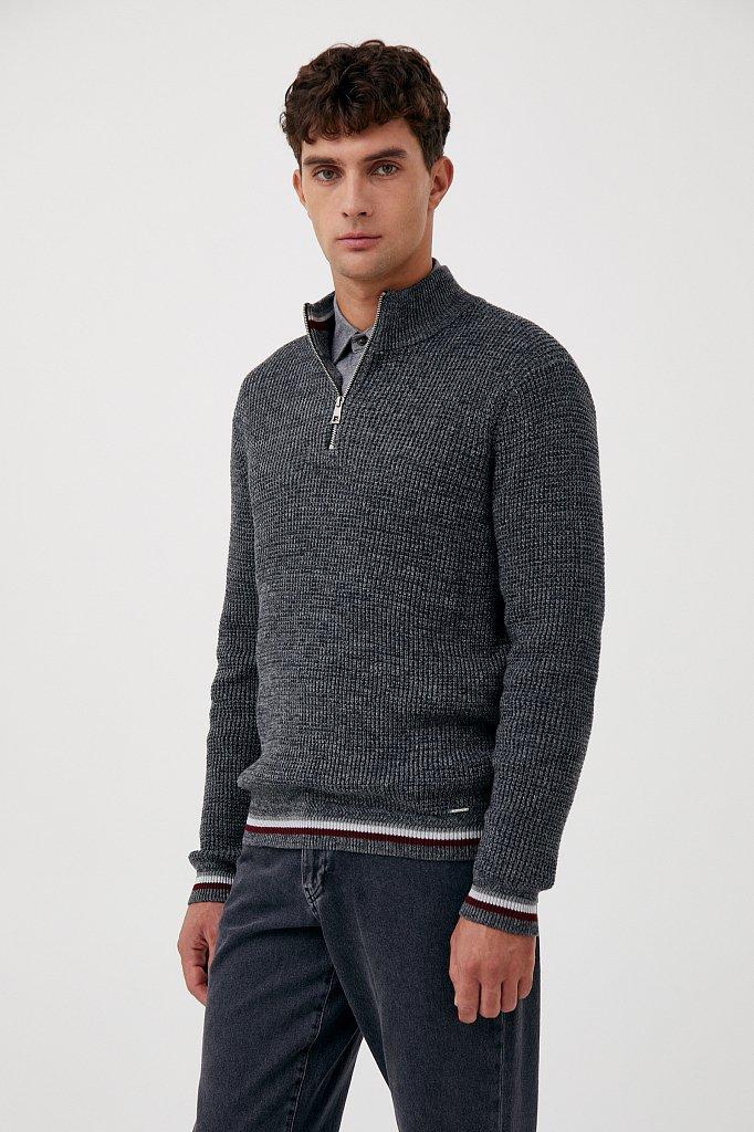 Трикотажный мужской свитер прямого силуэта, Модель FAB21124, Фото №3