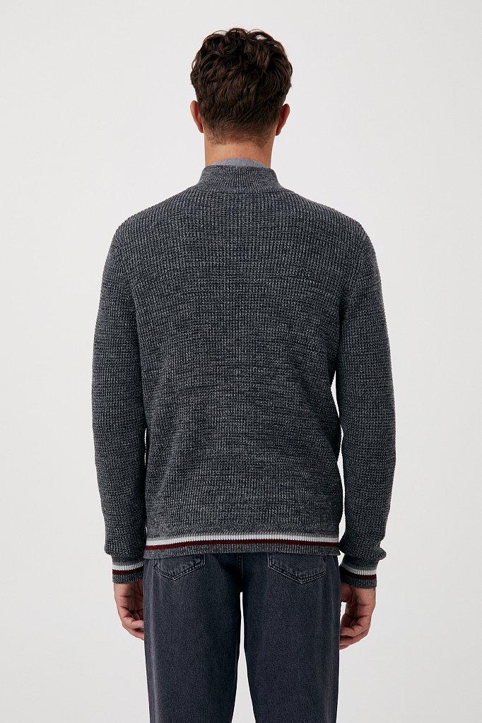 Трикотажный мужской свитер прямого силуэта, Модель FAB21124, Фото №4
