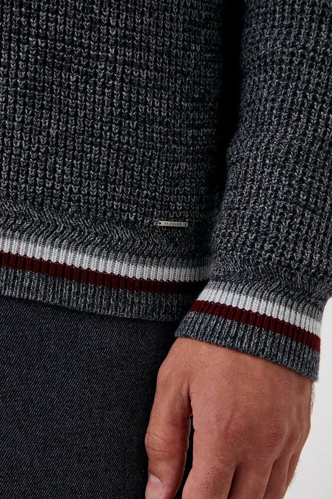 Трикотажный мужской свитер прямого силуэта, Модель FAB21124, Фото №6