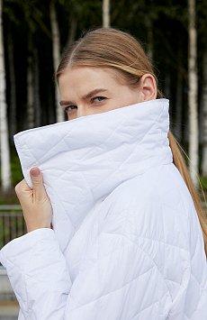 Cтеганое объемное пальто с утеплителем FAB110106