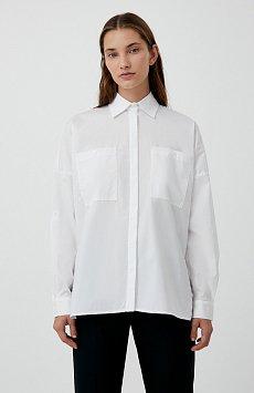 Хлопковая женская рубашка с накладными карманами FAB11026