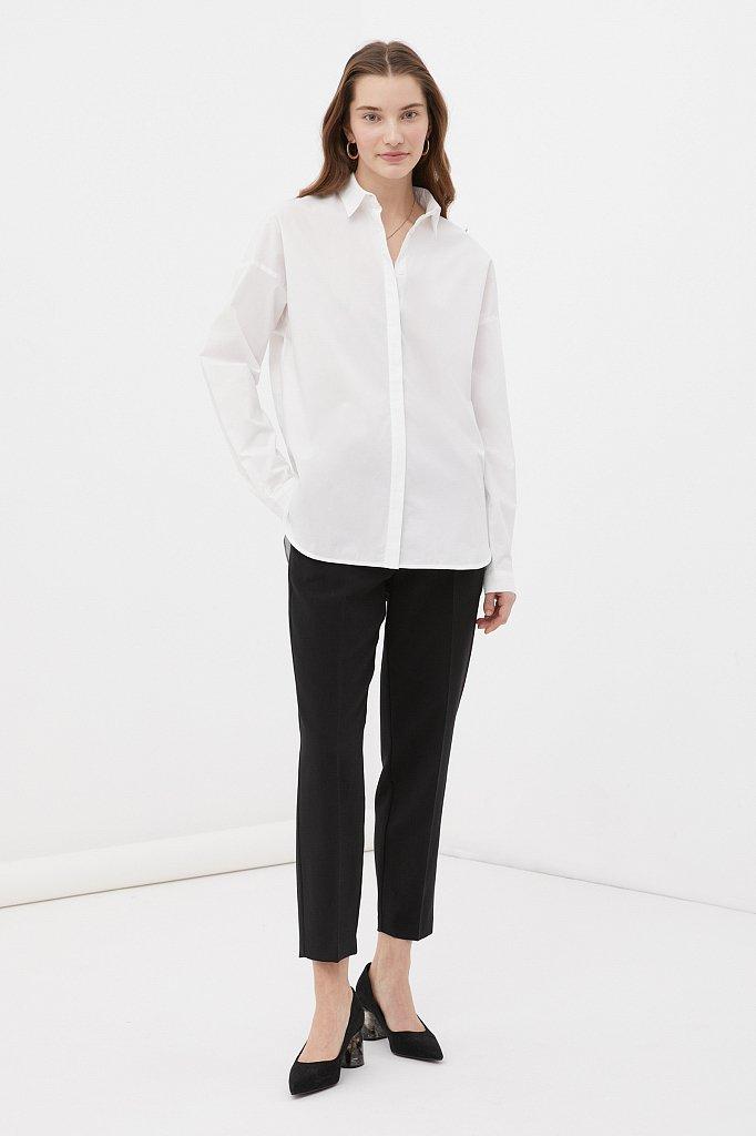 Классическая женская рубашка оверсайз из хлопка, Модель FAB110112, Фото №2