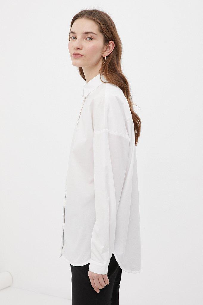 Классическая женская рубашка оверсайз из хлопка, Модель FAB110112, Фото №3