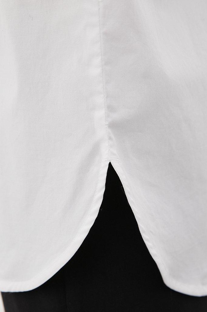 Классическая женская рубашка оверсайз из хлопка, Модель FAB110112, Фото №6