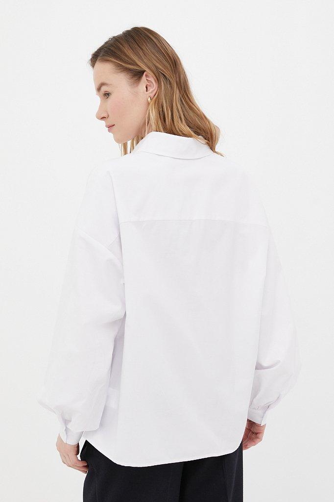 Женская рубашка оверсайз с объемными рукавами, Модель FAB110114, Фото №4