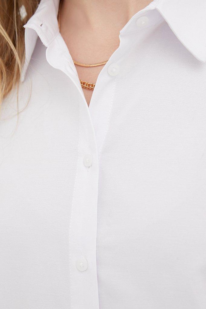 Женская рубашка оверсайз с объемными рукавами, Модель FAB110114, Фото №6