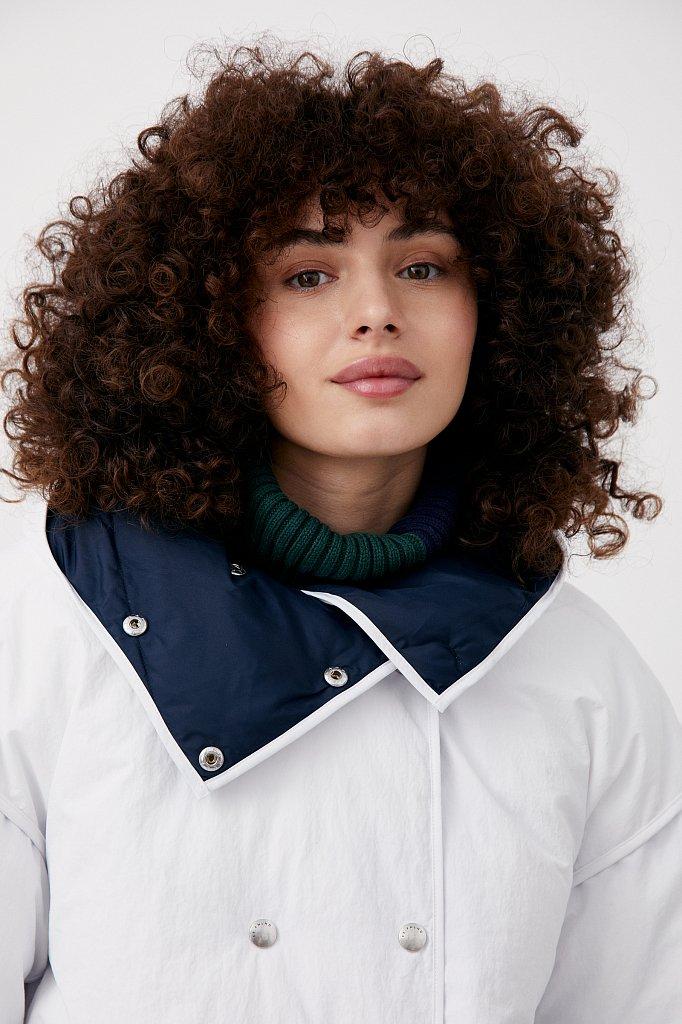 Утепленная двусторонняя куртка женская с капюшоном, Модель FAB110206, Фото №5