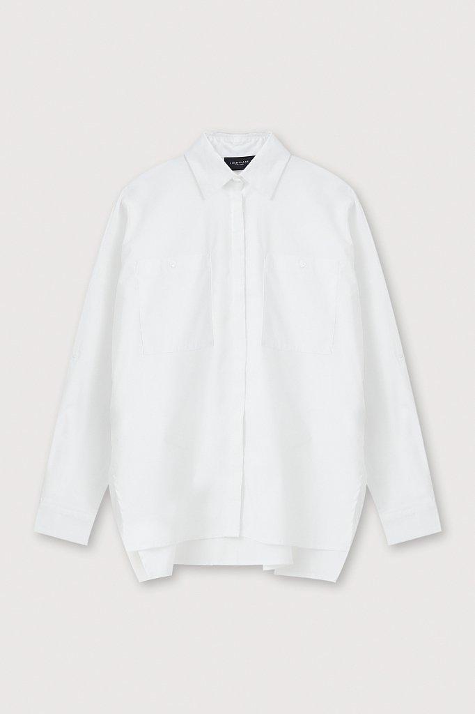 Хлопковая женская рубашка с накладными карманами, Модель FAB11026, Фото №7