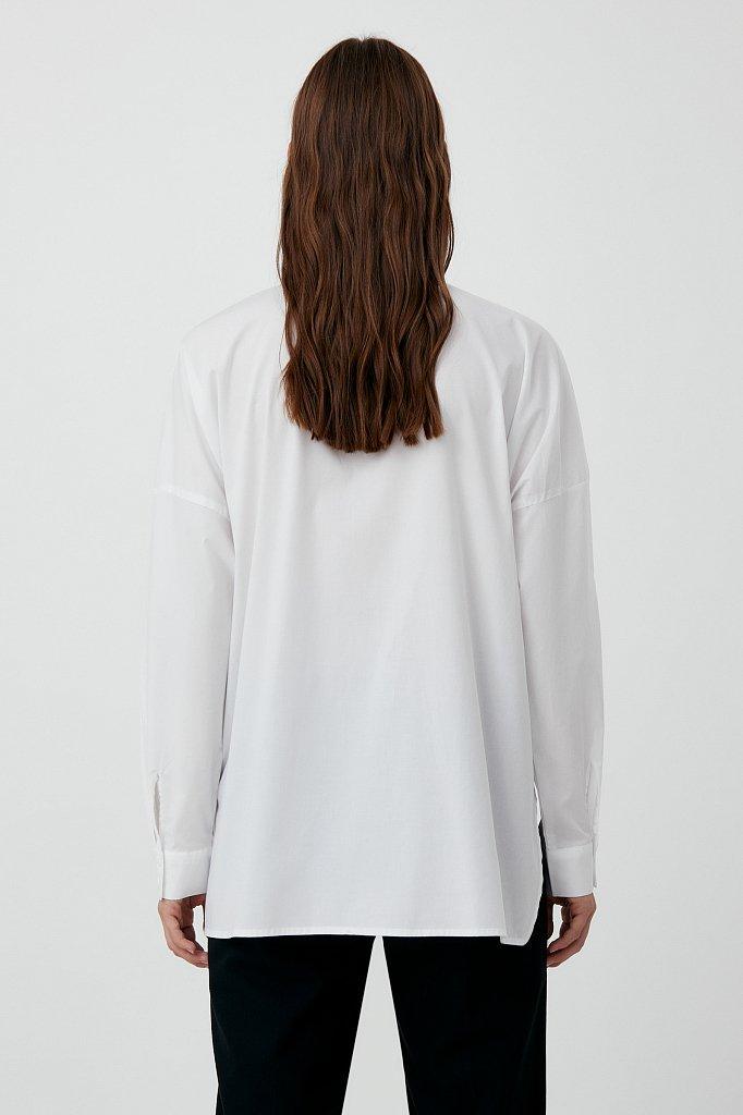 Хлопковая женская рубашка с накладными карманами, Модель FAB11026, Фото №4