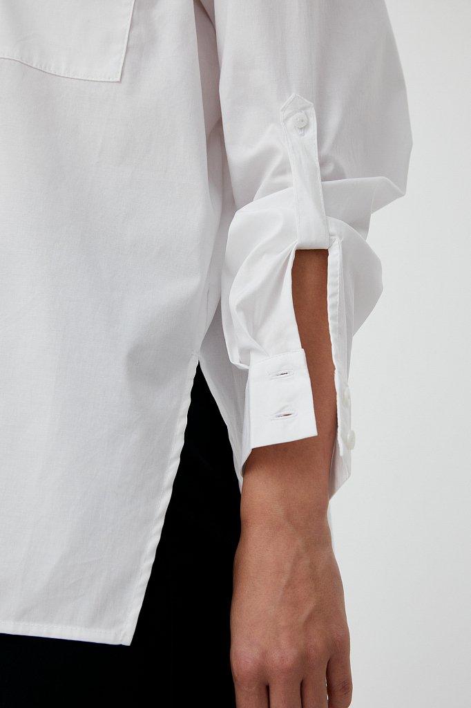 Хлопковая женская рубашка с накладными карманами, Модель FAB11026, Фото №5