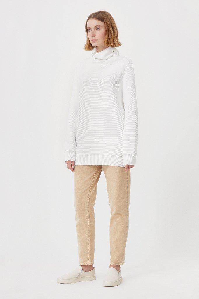 Женский свитер оверсайз прямого силуэта, Модель FAB111105, Фото №2