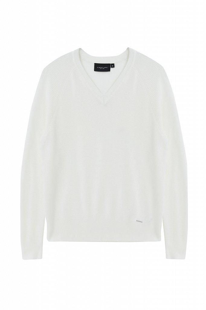 Женский базовый пуловер прямого силуэта с шерстью, Модель FAB111114, Фото №7