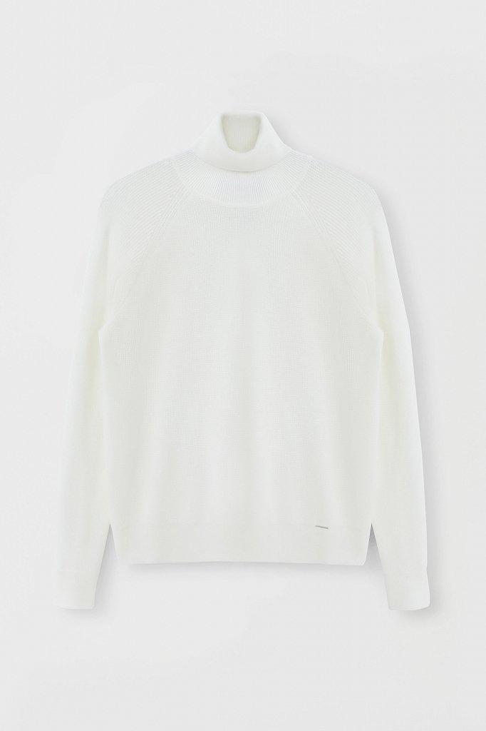 Женский свитер прямого силуэта с шерстью, Модель FAB11172, Фото №7