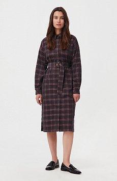 Вельветовое платье-рубашка FAB110116