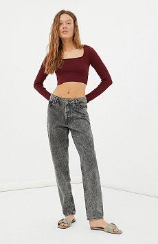 Женские джинсы tapered fit на средней посадке FAB15003