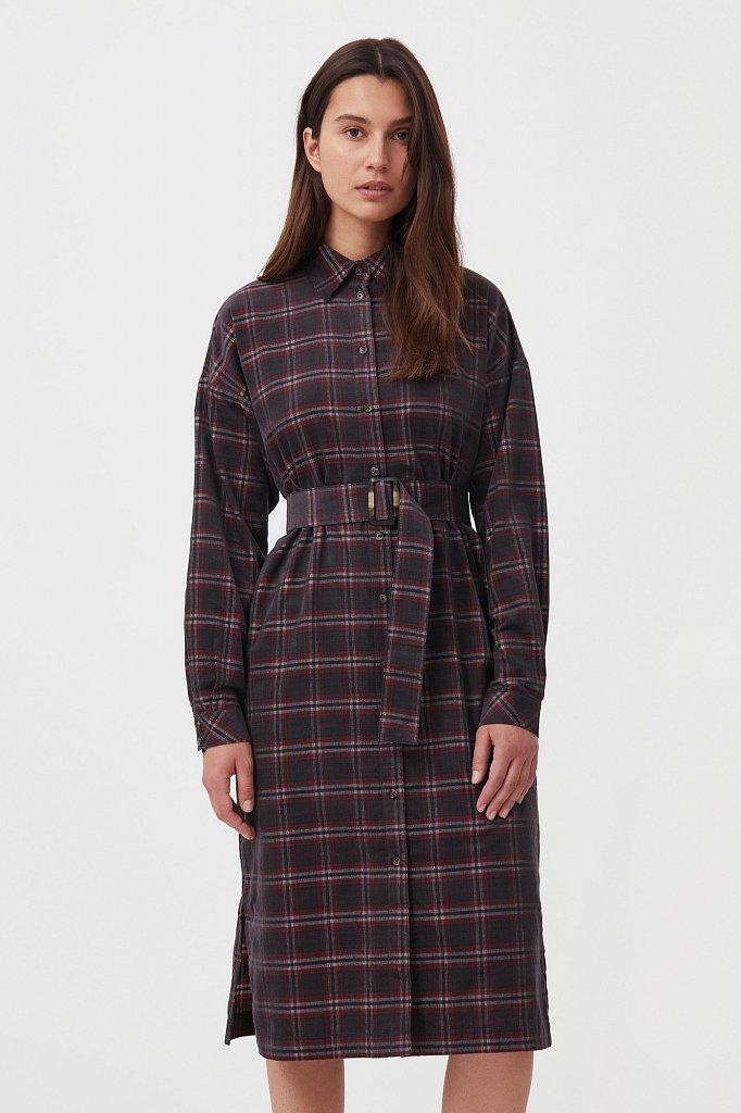Вельветовое платье-рубашка, Модель FAB110116, Фото №2