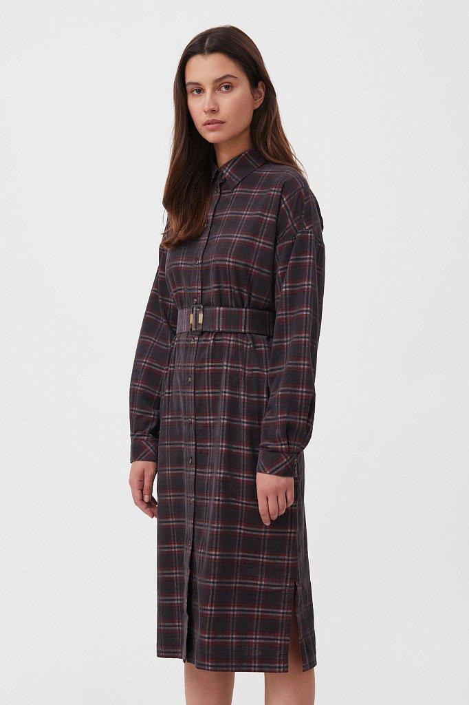 Вельветовое платье-рубашка, Модель FAB110116, Фото №3