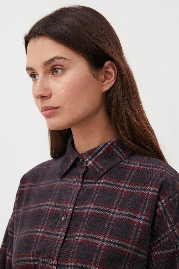 Вельветовое платье-рубашка, Модель FAB110116, Фото №6