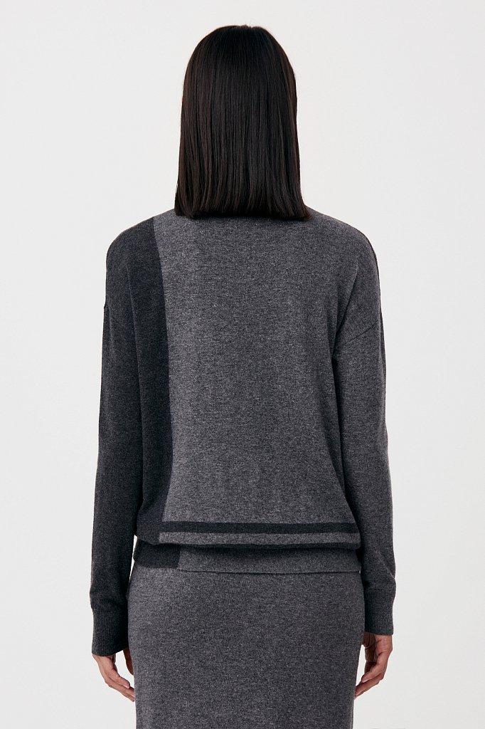 Женский свитер прямого кроя с шерстью, Модель FAB11132, Фото №4