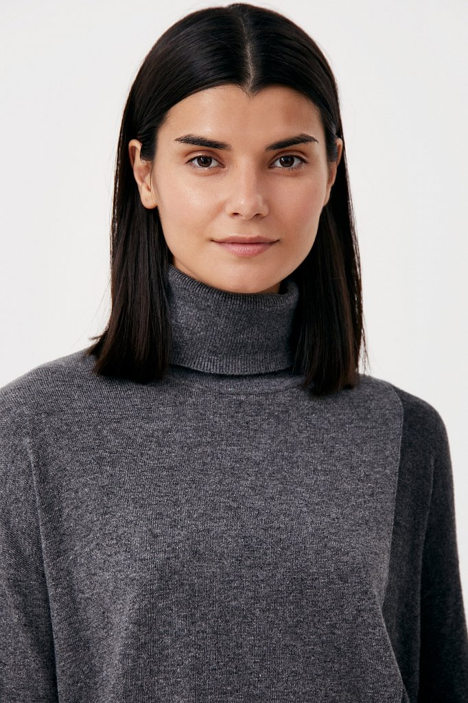 Женский свитер прямого кроя с шерстью, Модель FAB11132, Фото №6