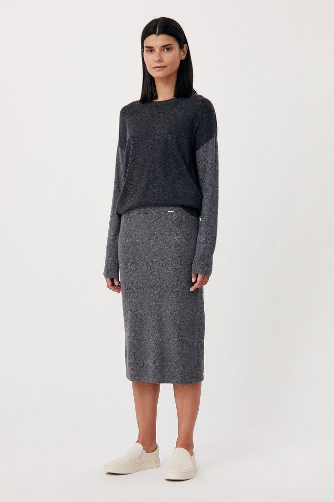 Женская трикотажная юбка с шерстью и ангорой, Модель FAB11188, Фото №1