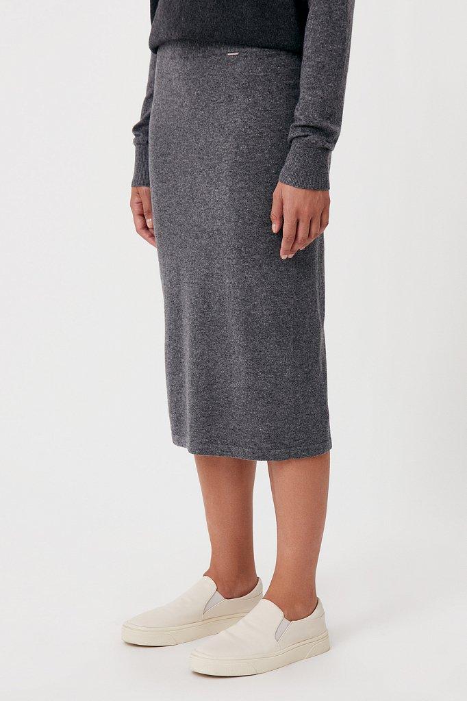 Женская трикотажная юбка с шерстью и ангорой, Модель FAB11188, Фото №3
