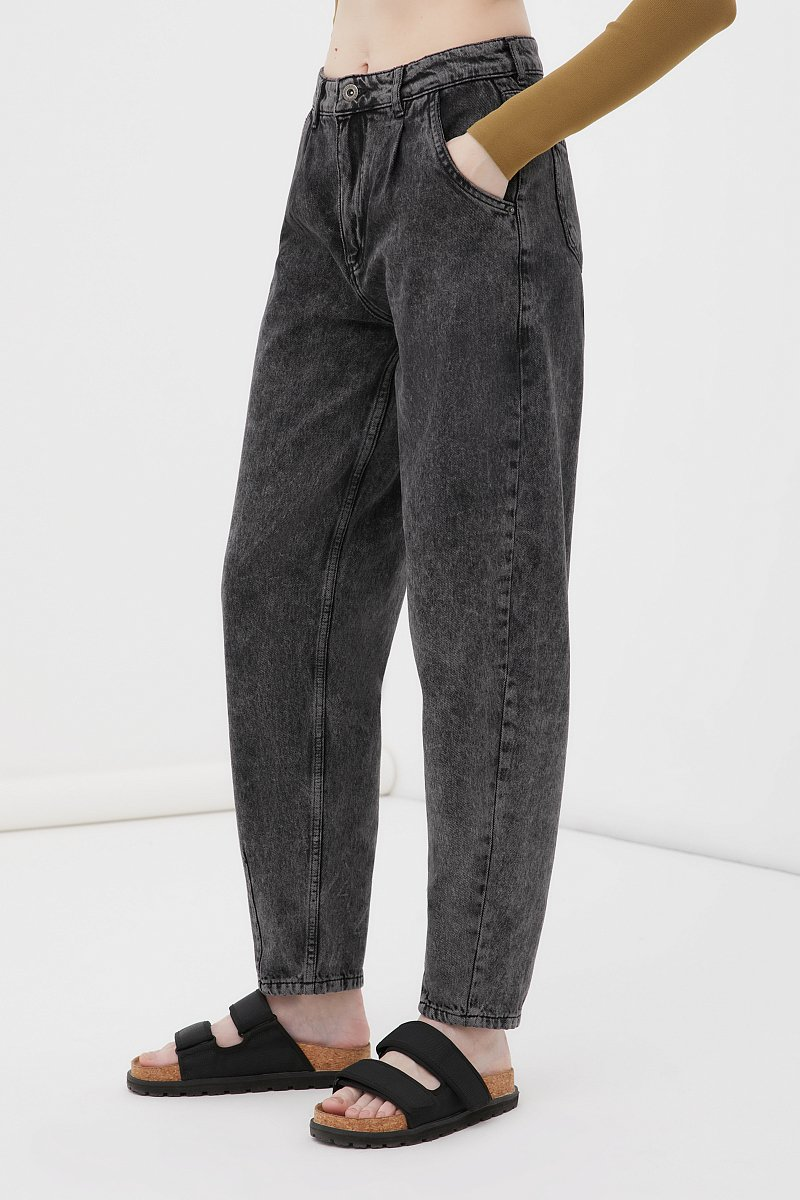 Джинсы женские tapered fit кроя багги, Модель FAB15002, Фото №3