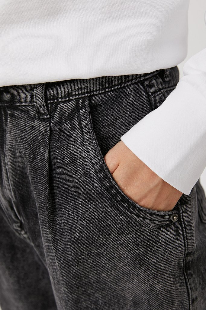 Джинсы женские tapered fit кроя багги, Модель FAB15002, Фото №5