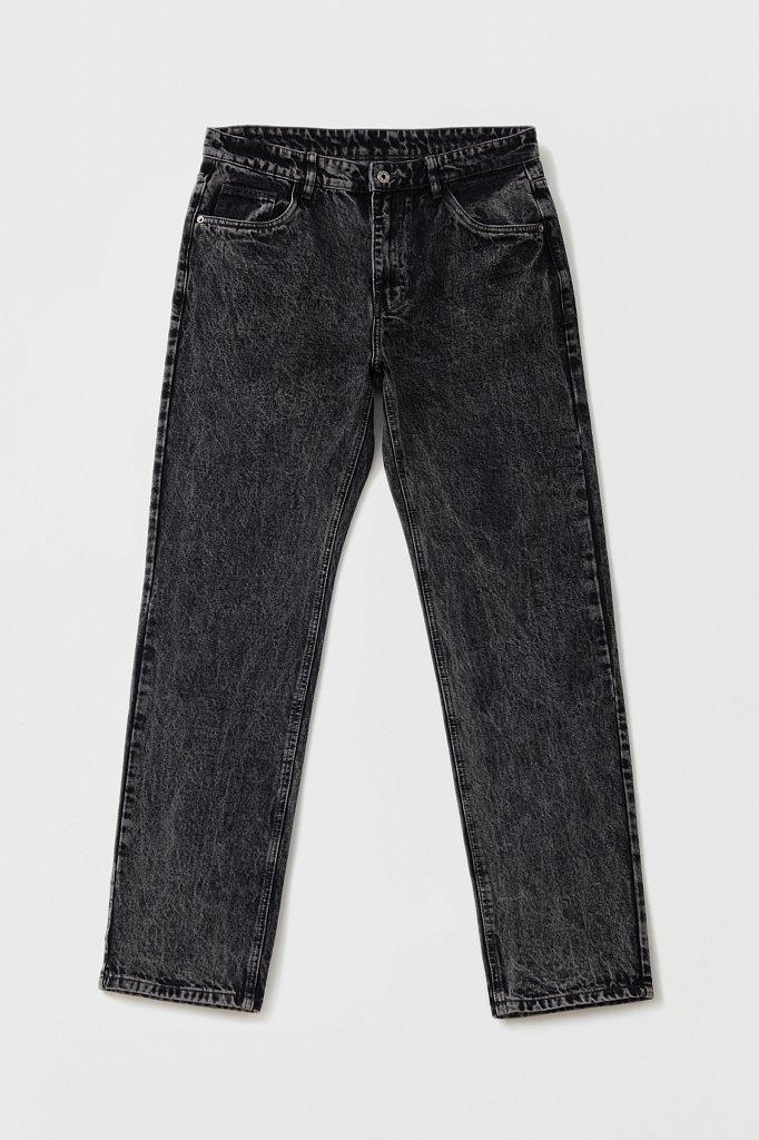 Классические прямые мужские джинсы straight fit, Модель FAB25009, Фото №6
