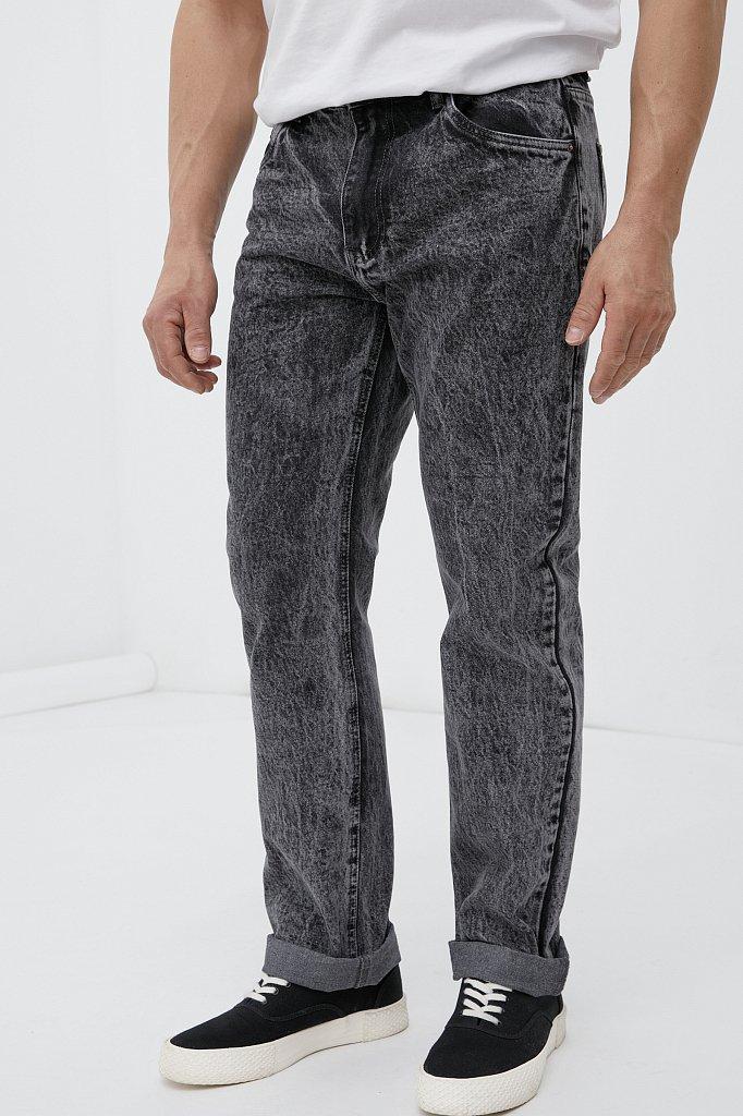 Классические прямые мужские джинсы straight fit, Модель FAB25009, Фото №2